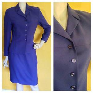 KASPER ASL Purple Pencil Skirt Suit Jacket/Blazer Career Business 4p 4 petite