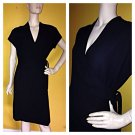 Gorgeous Amanda Smith Faux Black Wrap Dress Career 12p 12 Petite EC