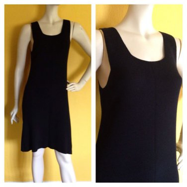 DKNY Black Knit Sleeveless Jumper Dress Casual Summer Spring Career Versatile P