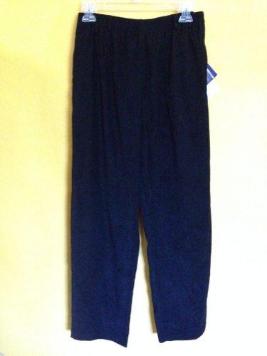 NWT Susan Graver Style Stretch Velvet Velour Pull On Elastic Waist Pants M QVC