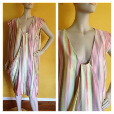 NWT Anne Klein Multi Color Striped Dress Womans Plus 20W Career Versatile