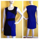 By Deep Los Angeles Blue Black Colorblock Bodycon Stretch Dress L
