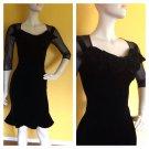 Vivienne Westwood Red Label Velvet Sheer Sleeve Ruffled Skirt Dress 40/6/Small