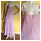 Valerie Stevens Long Dusty Pink Satin And Chiffon Gown Embroidered S