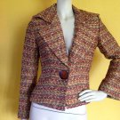 Gorgeous Fall/Autumn Shades Boucle Knit AUSTIN REED Jacket/Blazer 4 Big Collar