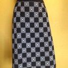 vtg 60s I Magnin Marchesa di Gresy Wool Knit Skirt Mod Straight S/M Black White