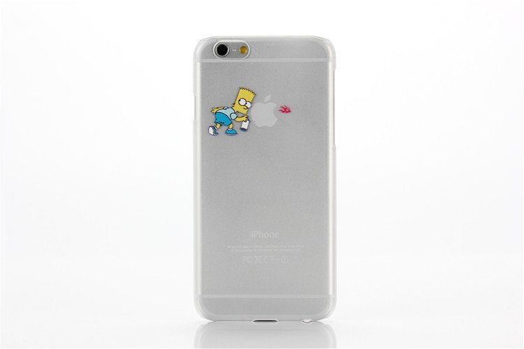 Case For Apple iPhone 5 5S case Transparent Hand simpsons eating homer skin