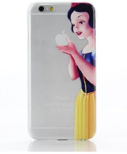 Case For Apple iPhone 5C case Transparent Hand simpsons snow white eating homer skin