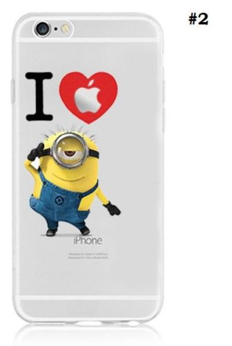 Case For Apple iPhone 6 plus case Transparent Hand simpsons minions eating homer skin