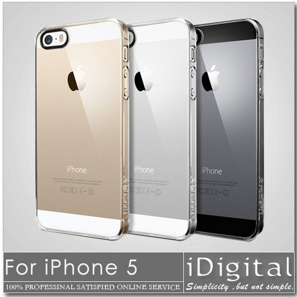 New For Apple iPhone 5 Phone Cover 0.3mm Ultra-Thin Fully Transparent Soft Phone Cases