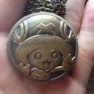 Vintage Brass One Piece tony tony chopper Pocket Watch Long Necklace