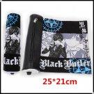 "BIG size 25cm/9.8"" Canvas Scroll Type Pen Bag/Pencil Case of Ciel Black Butler!"