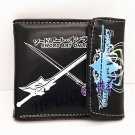 New PU Bifolded Purse Wallet Gift For Anime Sword Art Online Kirito Asuna