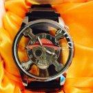New ONE PIECE MONKEY D LUFFY  Black eye Pirate Flag Wrist Watch Cosplay Anime Gift