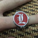 Anime Death Note ring watch / L watch ring