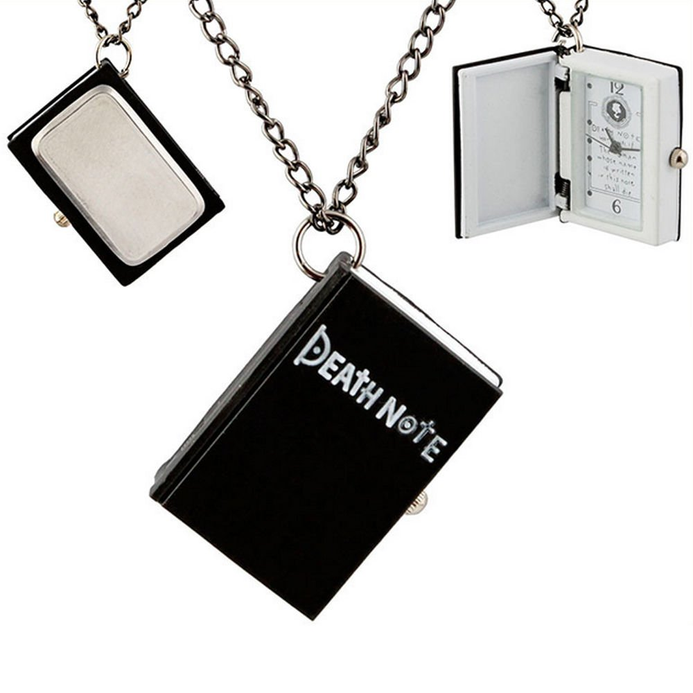 Anime Death Note L Necklace Pocket Watch Cosplay Costume Accessory Toy Gift Cool