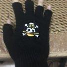 Anime One Piece half finger Gloves
