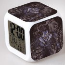 Japanese Anime Death note The Death Seven Color Change Glowing Digital Alarm Clock