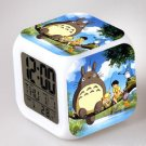 Japanese Anime Totoro Seven Color Change Glowing Digital Alarm Clock
