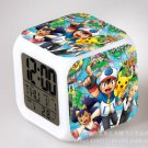 Japanese Anime POKEMON Color Change Glowing Digital Alarm Clock