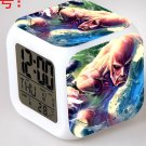 Japanese Anime Attack on Titan Seven Color Change Glowing Digital Alarm Clock