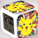 Japanese Anime POKEMON Pikachu Color Change Glowing Digital Alarm Clock