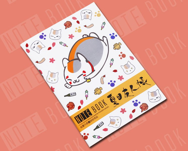 Lot of 2 Anime Natsume's Book of Friends notebook