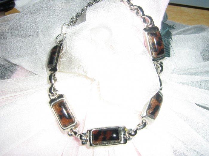 Brown rectangular bracelet