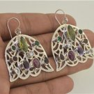Peridot Amethyst Tourmaline Garnet 925 Sterling Silver Earrings EA403 L8848