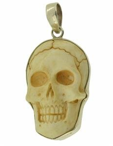 Death Skull 925 Sterling Silver Pendant Jewelry with Soul PN315 EFBA373