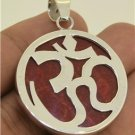 Om Aum Omkara Hindu Religious 925 Sterling Silver for Women & Men Charm Pendant