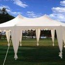 29x21 Octagonal Octagon Wedding Party Gazebo Tent Canopy White