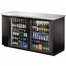 "UBB-24-60G 60"" Back Bar Beer Bottle Cooler w Stainless Steel Top and LED Lighting"