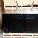 """60"""" Beer Keg Dispenser Kegerator Refrigerator w/ Stainless Top w/ Taps"""