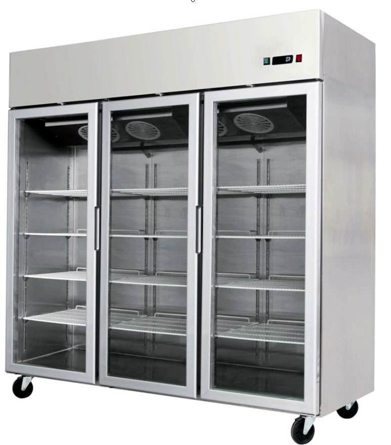 3 Door Commercial Reach In Glass Front Merchandiser