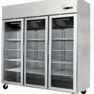 3 Door Commercial Reach In Glass Front Merchandiser Refrigerator - MCF-8603