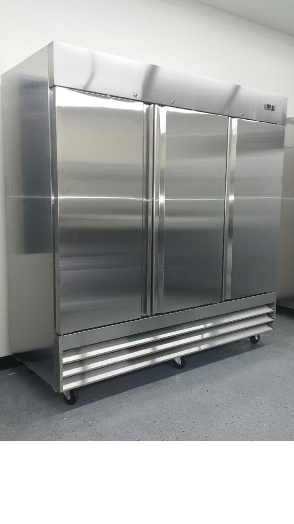 CFD-3RR 3 Door Stainless Refrigerator Steel Reach In - Commercial Grade
