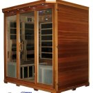4 Person Canadian Redwood Cedar FIR Infrared Sauna