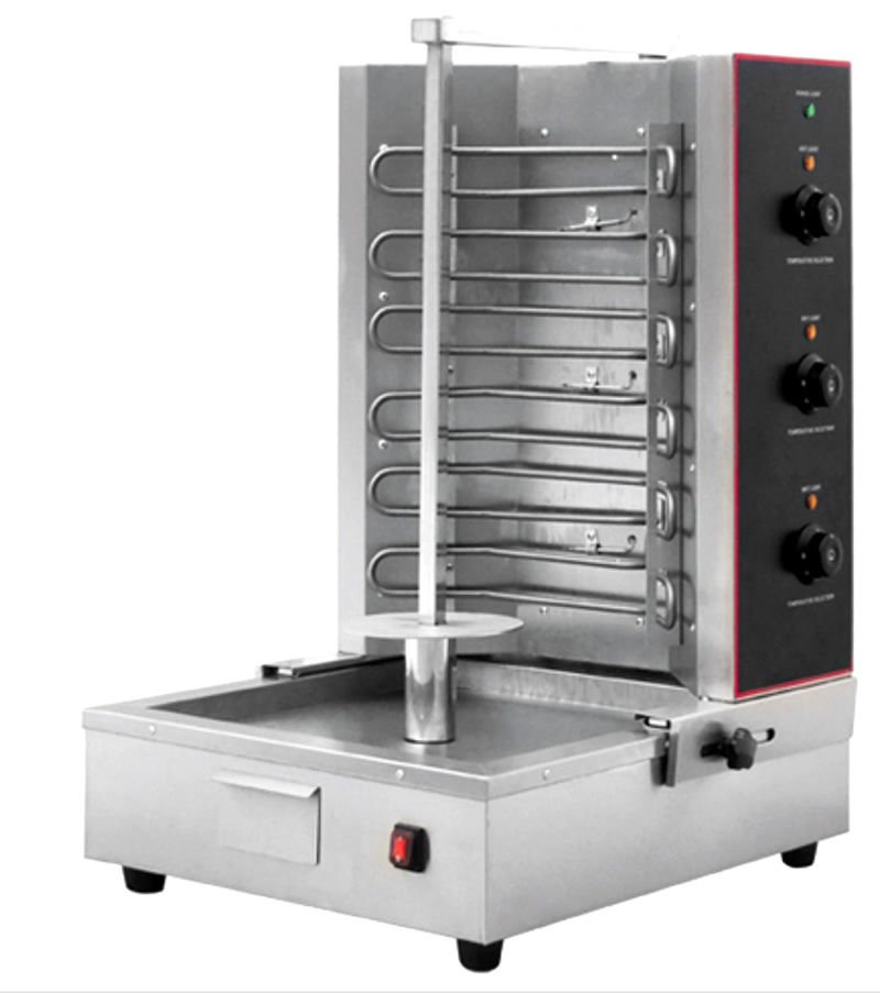 Electric Gyro Machine Vertical Broiler Rotisserie Shawarma