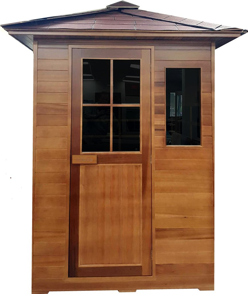 3 Person Outdoor Sauna Cedar FIR Far Infrared Canadian Red SPA Backyard