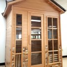 Outdoor Sauna Canadian Hemlock Wet / Dry Swedish Sauna Deluxe SPA