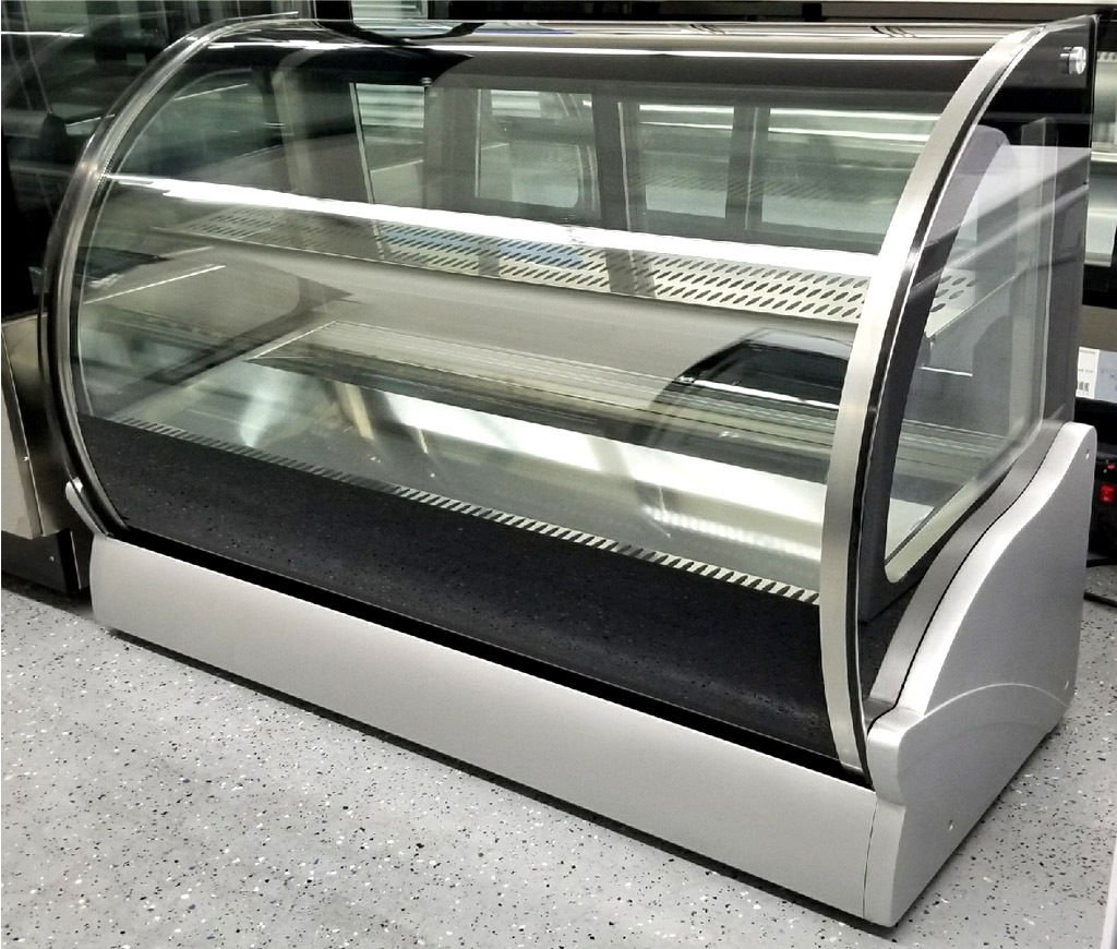 "48"" Countertop Refrigerated Cake Pie Display Case Curved Glass Refrigerator"