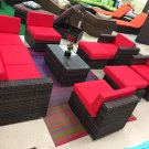 10 Piece Outdoor Wicker Patio Furniture Set Rattan
