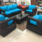 Rosarito Wicker Rattan Conversation Outdoor Patio Furniture Set