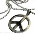 Retro PEACE Sign Stainless Steel Necklace UNISEX