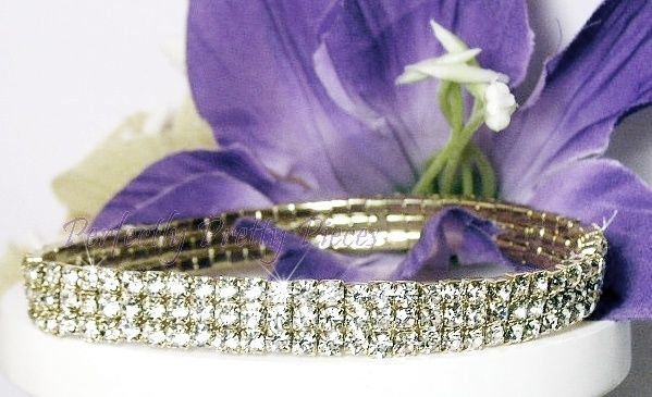 Czech Crystal 3 ROW Ankle Bracelet ANKLET ~ WEDDING ~