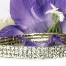 Czech Crystal 3 ROW Ankle Bracelet ANKLET ~ WEDDING ~