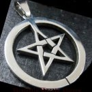 Pentagram Pentacle in Circle Stainless Steel Pendant ~ Unisex ~ Wicca Pagan