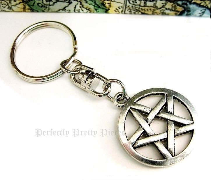Pentagram Pentacle Handbag Charm Key Ring Keychain