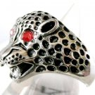 Mens Stainless Steel Leopard Cat Ring  Womens Index Thumb